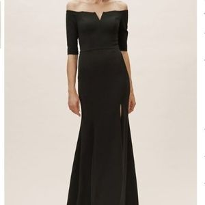 BHLDN Emile Off the shoulder black dress / gown